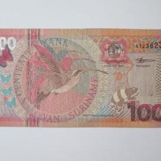 Suriname 100 Gulden 2000 - bancnota america