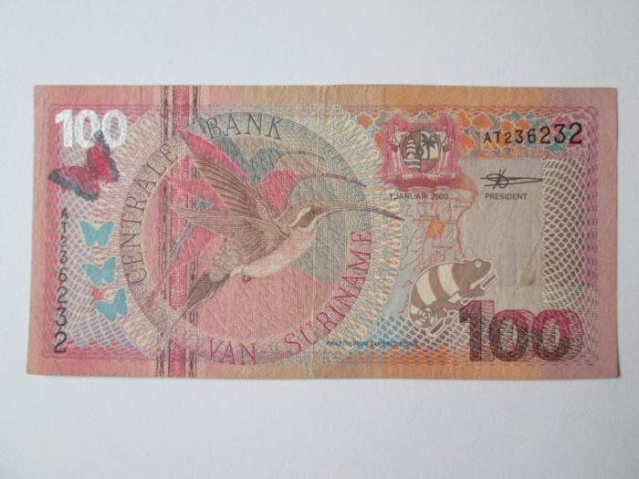 Suriname 100 Gulden 2000 foto mare