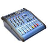 Mixer audio amplificat WVNGR 4D USB DJ / 4 canale 2 X 100W 16 Efecte
