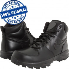 Pantofi sport Nike Manoa pentru barbati - ghete iarna - zapada - ghete piele - Ghete barbati Nike, Marime: 40, 40.5, 42, Culoare: Negru, Piele naturala
