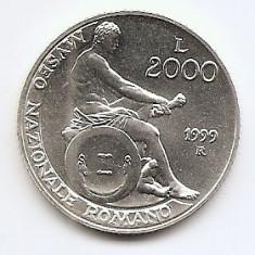 Italia 2000 Lire 1999 - Mvseo Nazionale Romano, Argint 16g /835, KM-202 UNC !!!, Europa