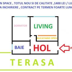 Apartament 2 camere + terasa, piata Pacurari Copou, 350 euro / luna negociabil - Apartament de inchiriat, 45 mp, Numar camere: 2, An constructie: 2017, Parter