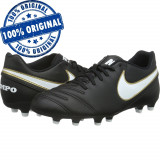 Pantofi sport Nike Tiempo Rio 3 pentru barbati - adidasi originali - fotbal, 40.5, 41, 42, 42.5, 43, Negru