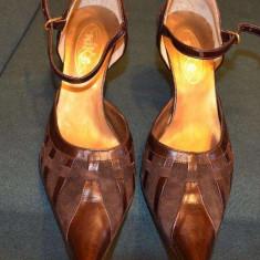 Pantofi dama maro - Pantof dama, Marime: 37, Cu toc
