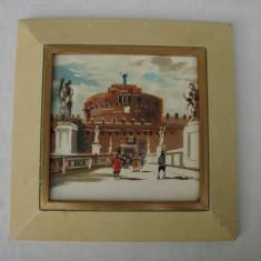 Frumoasa pictura impresionism - ulei pe placa de faianta - Tablou autor neidentificat, Peisaje, Realism