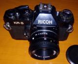 TRUSA FOTO RICOH KR 5 + 2 OBIECTIVE SUPER DANUBIA + GEANTA