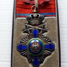 Ordinul Steaua Romaniei , Comandor Militar timp de pace, argint la cutie Carol 1
