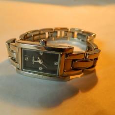 Ceas de dama Fossil cadran negru, cod f35 - Ceas dama Fossil, Casual, Quartz, Inox, Metal necunoscut, Analog