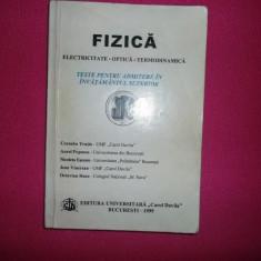 Cornelia Trutia - Fizica, Electricitate, Optica, Termodinamica, Teste - Teste admitere facultate