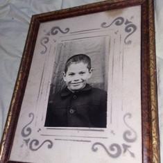 Tablou vechi cu rama,Fotografie veche inramata 35 cm/28 cm,Tde Colectie,Gratuit