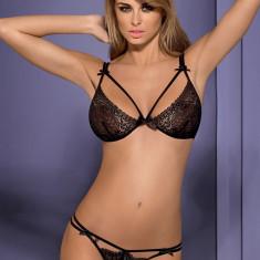 Set Sutien și Tanga Intensa Obsessive - Set lenjerie sexy, Marime: S/M, Culoare: Negru
