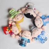 Set 6 mascote degete papusi degete membrii familiei teatru de papusi autism - Figurina Animale