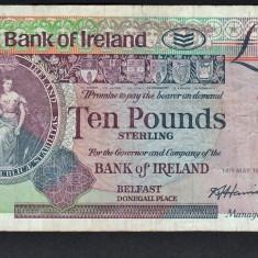 Irlanda 10 Pounds 1991 - bancnota europa