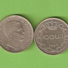 ROMANIA 100 LEI / 1943 - Moneda Romania