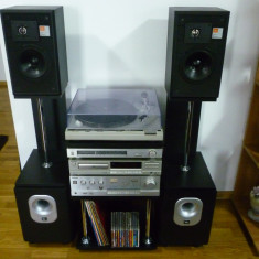 Linie audio technics cu boxe jbl