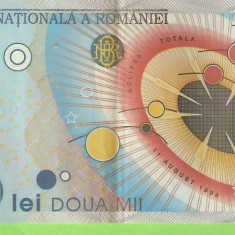 ROMANIA 2000 LEI / 1999. ECLIPSA - Bancnota romaneasca