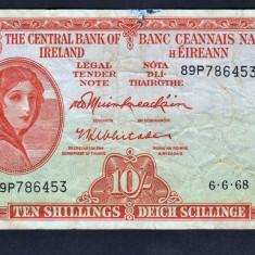 Irlanda 10 Shillings 1968 P#63 - bancnota europa