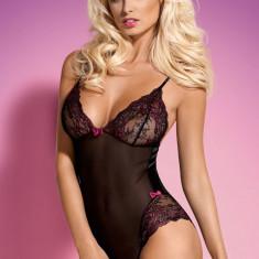 Body Obsessive Amarone - Body dama, Marime: L/XL, Culoare: Negru