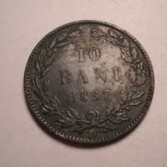 10 bani 1867 Watt - Moneda Romania