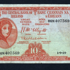 Irlanda 10 Shillings [1] 1959 P#56 - bancnota europa