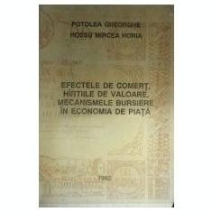 EFECTELE DE COMERT, HARTIILE DE VALOARE, MECANISMELE BURSIERE IN ECON. DE PIATA