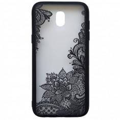 Husa silicon dantela Samsung J5 (2017) alb floare - Husa Telefon