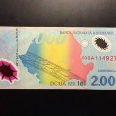 2000 Lei 1999 Romania, UNC, Eclipsa Totala de Soare - Bancnota romaneasca