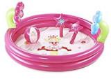 Piscina gonflabila 145 cm cu accesorii, roz