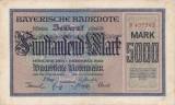 Bancnota Germania ( Bayern ) 5.000 Marci 1922 - PS925 XF