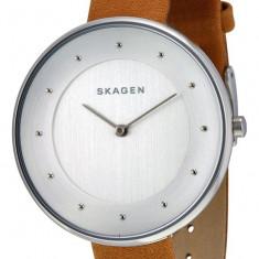 Skagen SKW2326 Gitte ceas dama nou 100% original. Garantie. Livrare rapida., Casual, Quartz, Inox, Piele, Rezistent la apa