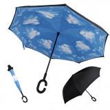 Umbrela reversibila de ploaie cu nori Britanny - Umbrela Dama, Culoare: Din imagine, Clasic