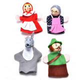 4 mascote degete papusi degete personaje scufita rosie teatru de papusi autism