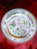 Farfurie portelan fin Anglia ,ornamentata bogat , marca Royal Doulton, d= 22 cm
