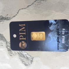 Lingou de aur PIM in blister 0, 1 g