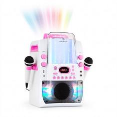 AUNA KARA LIQUIDA BT, dispozitiv karaoke, show de lumini, fântănă de apă, bluetooth, culoare albă / roz - Echipament karaoke