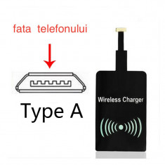Receiver incarcator wireless 1000 mAh micro USB Samsung HTC (Type: A) (v.17)