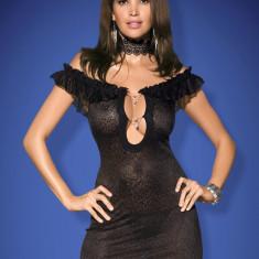 Chemise și Chiloţi Diamond Obsessive, Marime: L/XL, S/M, Culoare: Negru