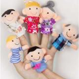 6 jucarii educative autism logoped mascote degete jucarii degete papusi degete