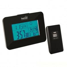 Statie meteo de interior/exterior, ecran LCD, ceas, emitator extern, Home - Ceas led