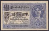 Bancnota Germania 5 Marci 1917 - P56 UNC