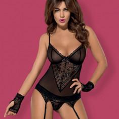 Set Corset și Chiloţi Picantina Obsessive - Set lenjerie sexy, Marime: S/M