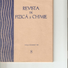 Revista de fizica si chimie, august 1985