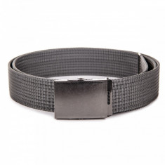 Curea pentru barbati, culoare gri-inchis, lungime ajustabila, catarama din metal - A029 - Curea Barbati