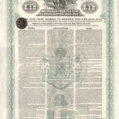 £10 Aur 1922 Romania Obligatiune la purtator cu dobanda