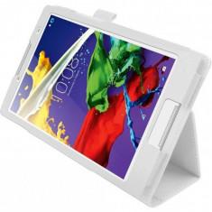 Husa Premium piele pentru tableta Lenovo IdeaTab 2 A8-50, 8 inch, White - Husa Tableta