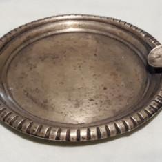 Scrumiera argint Mexic VECHE executata manual PATINA FRUMOASA, Ornamentale