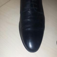 Pantofi Clasici Negri Benvenuti 44 - Pantofi barbat, Culoare: Negru