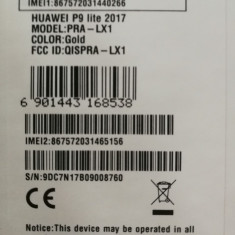 Schimb Huawei P9 Lite sigilat - Telefon Huawei, Negru, 16GB, Neblocat, Octa core, 3 GB