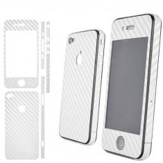 SKIN Folie FULL BODY Carbon iPhone 4/4s Alba PRET SPECIAL !!! - Sticker Telefon