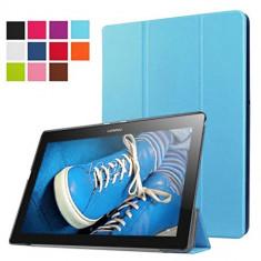 Husa Premium SLIM Book Cover pentru tableta Lenovo Tab 2 A10-30 LightBlue - Husa Tableta